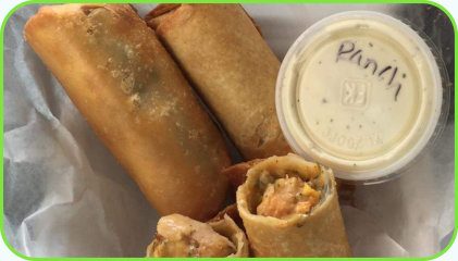 Sign up for Daily Email Restaurant Specials - Southwestern egg rolls with homeade ranch