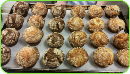 "We add a new specials to our ""Specials"" tab every weekday morning before 10:00am. Fresh Muffins"