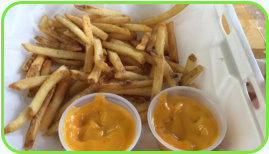 Cheesy french fries!