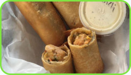 Sign up for our Daily Lists at Logans' Place - Southwestern egg rolls with homemade ranch